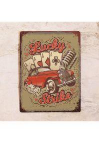 Жестяная табличка Lucky Strike