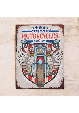 Жестяная табличка Custom Motorcycles
