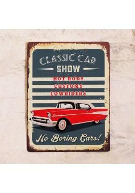 Жестяная табличка Car show