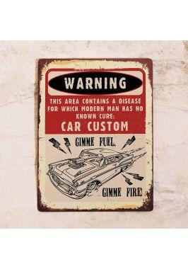 Жестяная табличка Car Custom