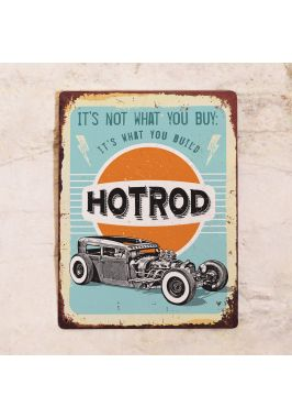 Жестяная табличка Hotrod