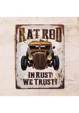 Табличка в гараж In rust we trust!