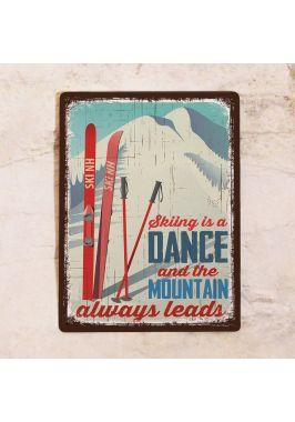 Табличка Skiing. Купить