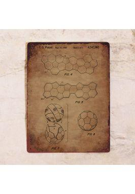 Постеры с патентом футбольного мяча. Купить.