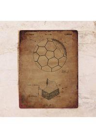 Винтажный футбольный мяч