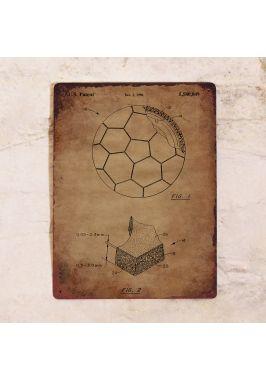 Табличка Винтажный футбольный мяч. Купить
