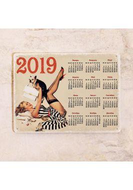 Жестяной календарь Pin-up 2019