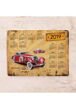Календарь с магнитным курсором  Mercedes Retro Car