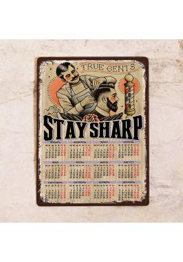 Металлический календарь Stay Sharp