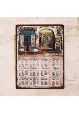 Металлический календарь Le Petit Cafe