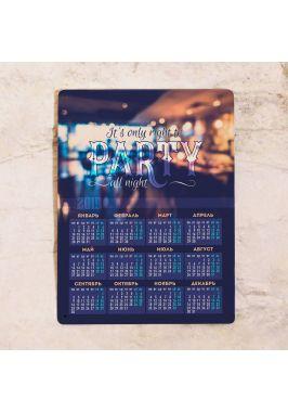 Металлический календарь Party