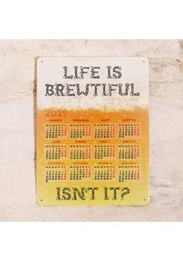 Металлический календарь Life is srewtiful