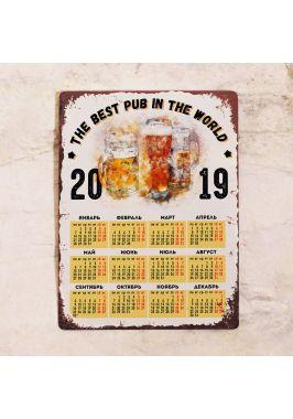 Металлический календарь The best pub