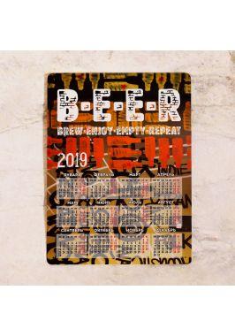Металлический календарь B.E.E.R