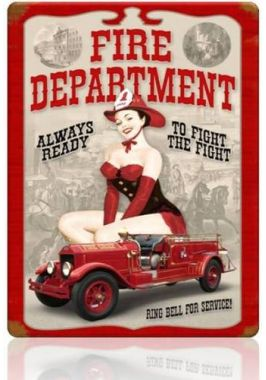 Жестяная табличка Fire department