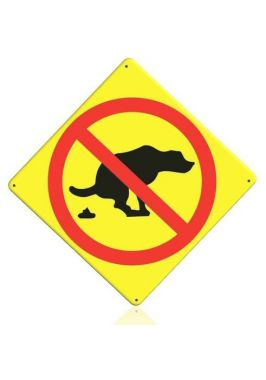 Уличная табличка Убирайте за собакой
