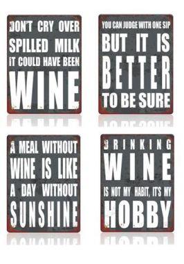Набор из 4 винных табличек