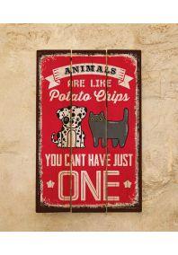 Деревянная табличка Animals