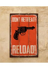 Деревянная табличка Reload!