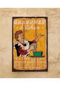Деревянная табличка Grandma's kitchen