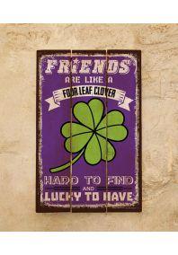 Деревянная табличка Friends