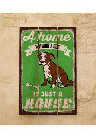 Деревянная табличка Dog