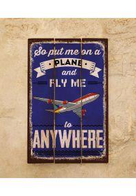 Деревянная табличка Plane