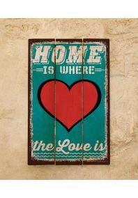 Деревянная табличка Love