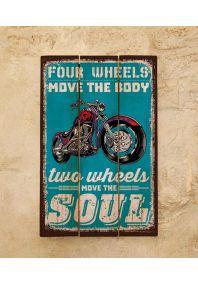 Деревянная табличка Two wheels