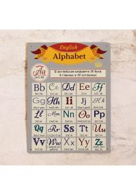 Табличка Английский алфавит