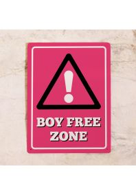 Табличка на дверь Boy Free Zone