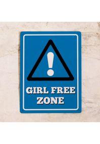 Табличка на дверь Girl Free Zone