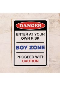 Табличка на дверь Danger! BOY ZONE