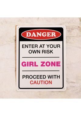 Табличка на дверь Danger! GIRL ZONE
