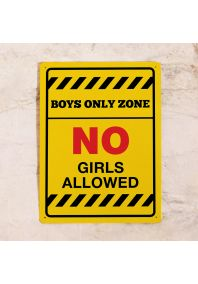 Табличка на дверь Boys Only Zone