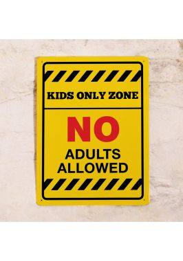Табличка на дверь Kids Only Zone