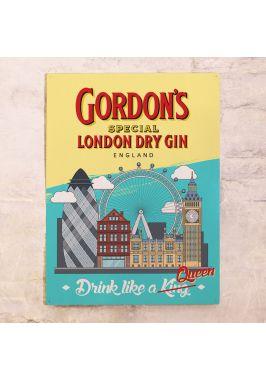 Жестяная табличка Gordon's