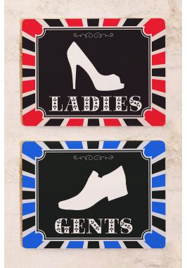 Набор табличек для мужского и женского туалета Shoes