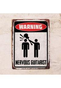 Nervous guitarist