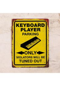 Keyboard player parking only