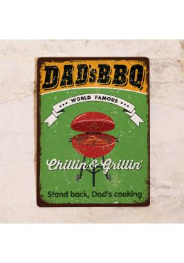 Табличка Dad's BBQ