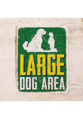 Табличка Осторожно! Большие собаки