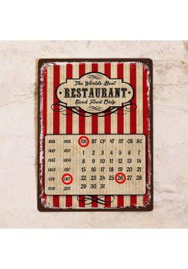 Металлический календарь Лучший ресторан