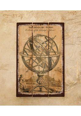 Деревянная табличка Армиллярная сфера