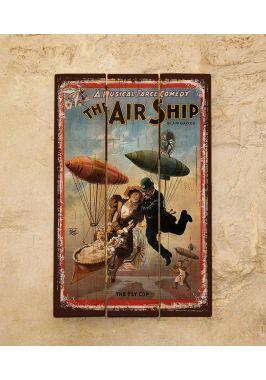 Картина из дерева Airship