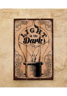 Деревянная табличка Light