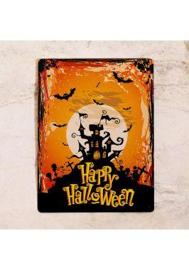 Табличка для украшения стен на Хэллоуин, Happy Halloween