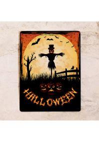 Страшно красивая табличка для декора на Хэллоуин