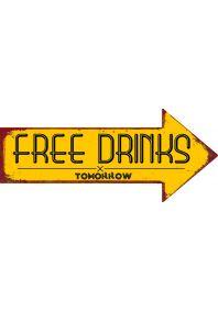 Смешной указатель  Free drinks