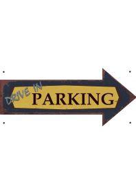 Металлический указатель  Parking